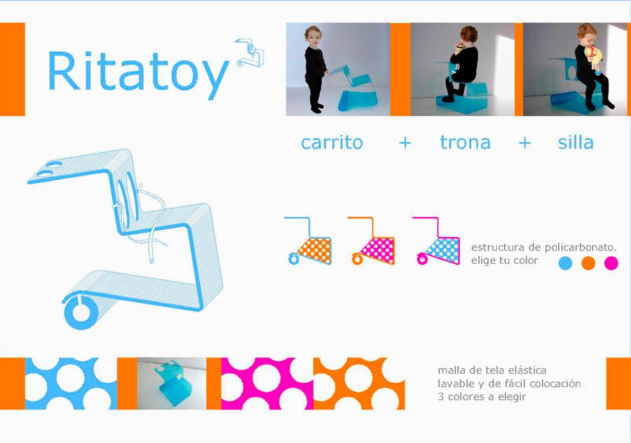 ritatoy: trona + carrito + silla 1